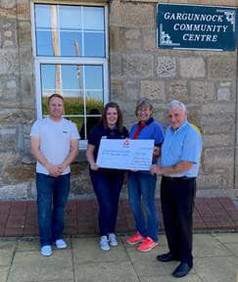 Lodge Bailie Nicol Jarvie donated £50 each to the 1st Gargunnock Guides and 1st Gargunnock