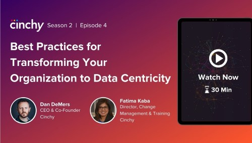 [Season 2 Ep. 4] Best Practices for Transforming Your Org to Data-Centricity