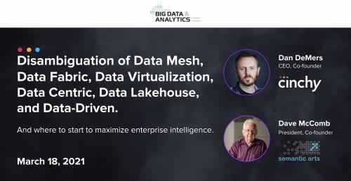 Disambiguation of Data Mesh, Data Fabric, Data Virtualization, Data Centric, Data Lakehouse, and Data Everything!