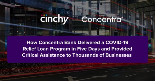 How Concentra Bank leveraged Dataware to deliver a COVID-19 relief loan program in five days and provided critical assistance to thousands of businesses