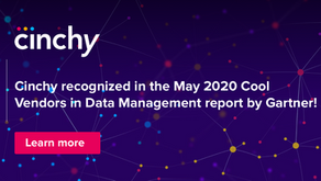 Cinchy Data Fabric Recognized in the May 2020 Cool Vendors in Data Management Report by Gartner