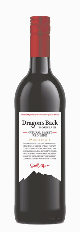 1x Case (12 bottles)-Dragon's Back Natural Sweet Red Wine