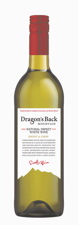 1x Case (12 bottles)-Dragon's Back Natural Sweet White Wine