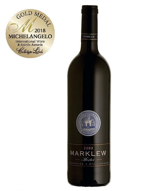1 x Case (6 bottles) of Marklew Merlot 2016