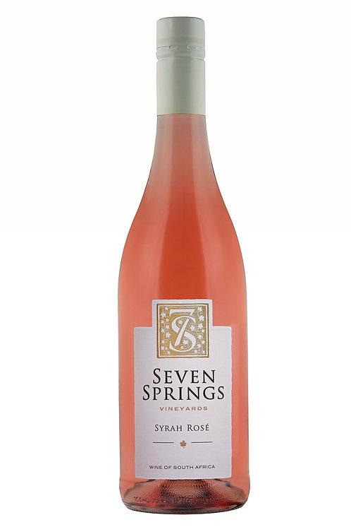 1 x Case (6 bottles) of Seven Springs Syrah Rose 2019
