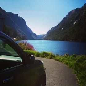 Et stopp på veien mellom Kristiansand og Stavanger.