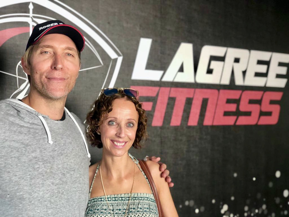 Love Lagree owner Lorraine Jenkins with Sebastien Lagree