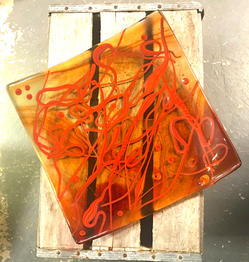 Orange Vit Platter