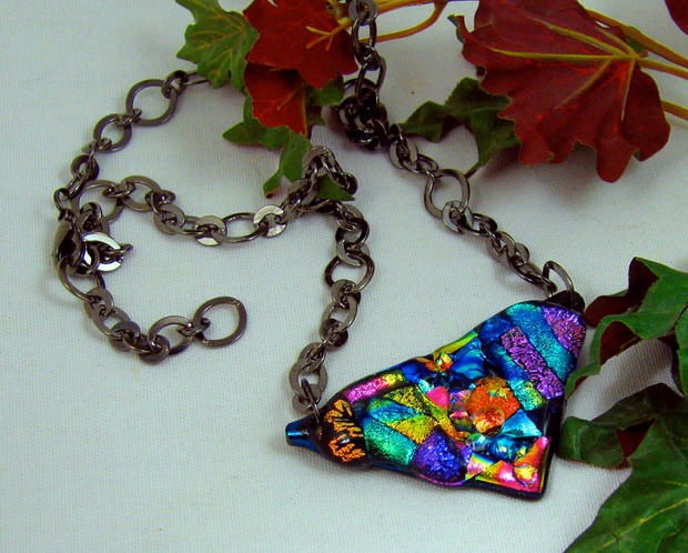 Mosaic Pendant with Chain