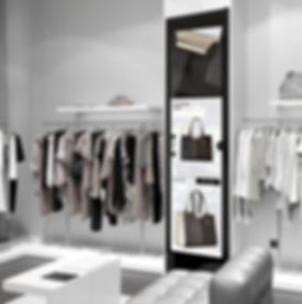 mirrored kiosk