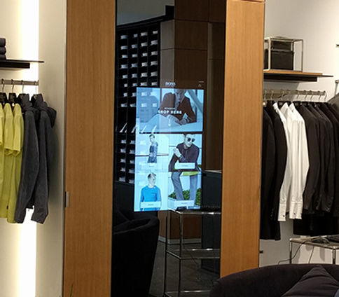 Hugo Boss instore kiosks
