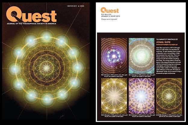 Joma Sipe Quest Magazine Cover jomasipe mandala theosophical society blavatsky symbolist art visionary theosophy