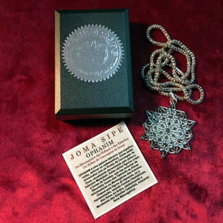 Box with collection of 4 Boxes with 4 Pendants of the Special Boxes (Sri Yantra I Ophanim I Metatron Golden Plated I Metatron Silver Plated)