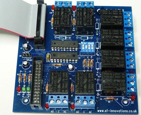 Custard Pi 6 -Relay card with I2C interface