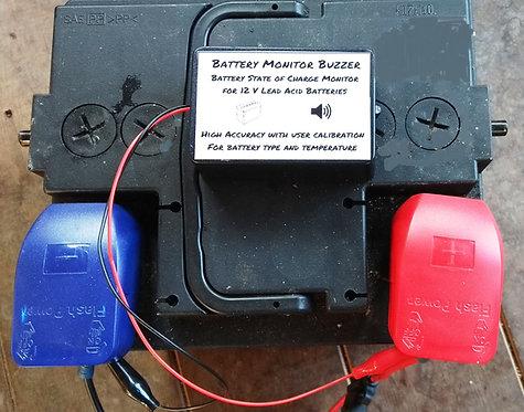BattMon #1 - Battery Monitor Buzzer for 12 V Lead Acid Batteries