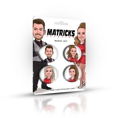 MATRICKS BADGE 4PCS SET