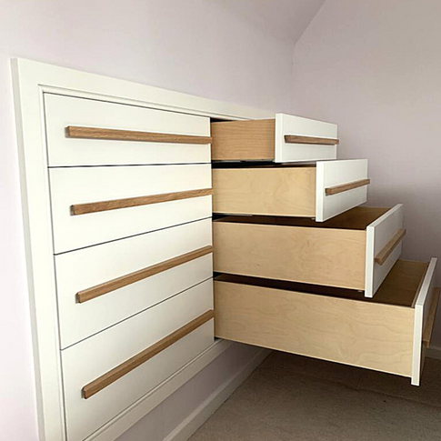 Eaves Fitted Drawer Cabinet