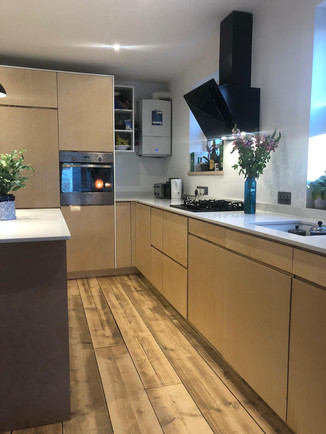Contemporary birch plywood kitchen