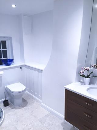 Bespoke wall hung toilet unit & cabinet
