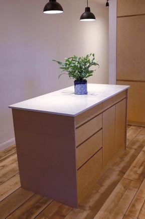 Birch plywood kitchen island