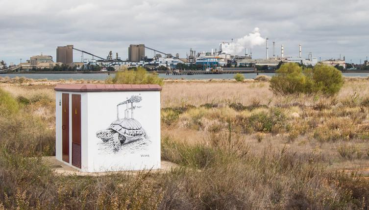 Marisma Limpia Paraje Natural Marismas del Odiel, Spain. 2018