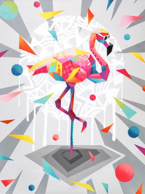 The lazy Flamingo print