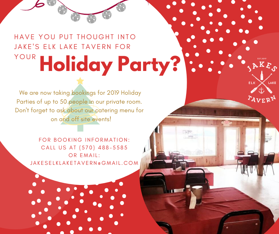 Holiday Party Booking!