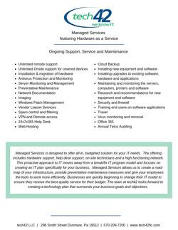 MSA Services List