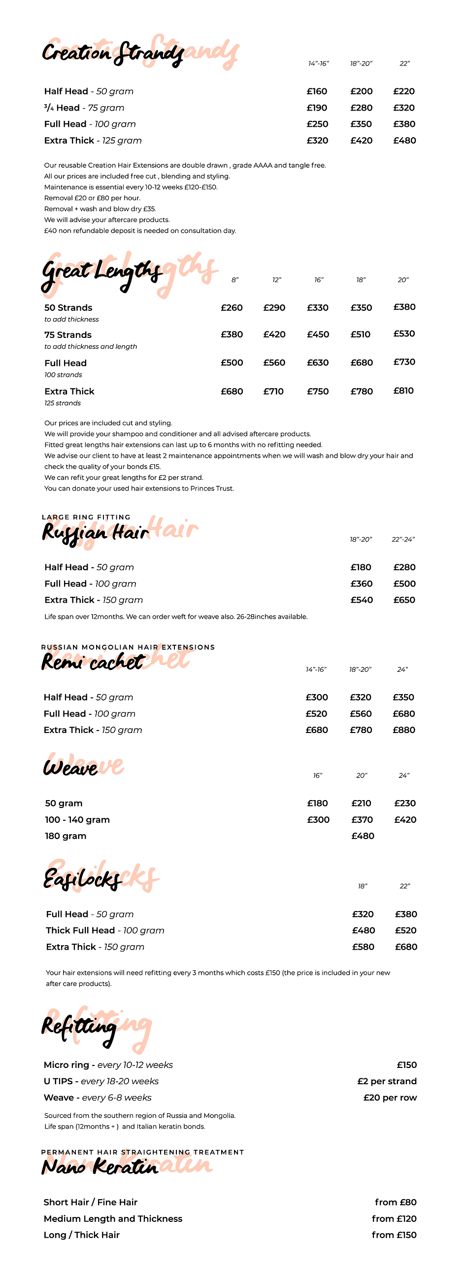 Creation Cottage price list.png