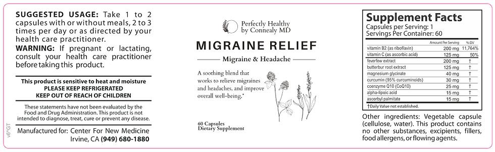 Migraine Relief 775mg 60 Capsules