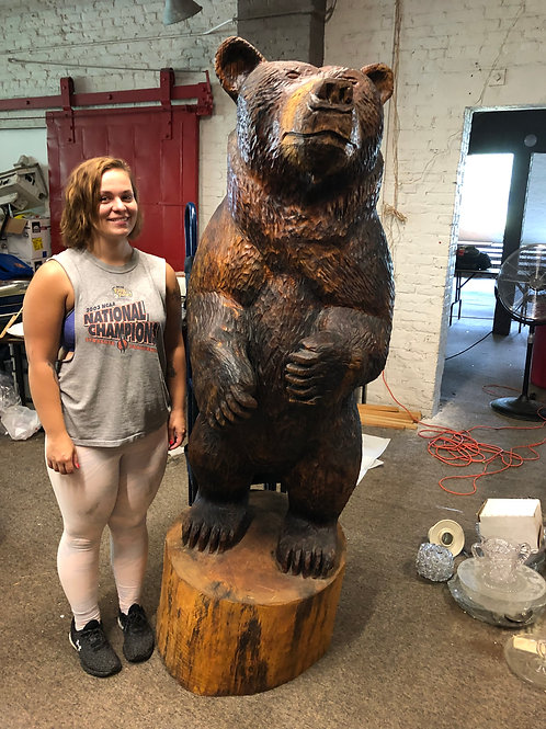 Large Carved Bear