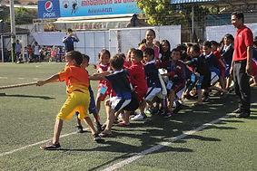 運動会に参加した子供達