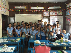 カンボジアの教室です。