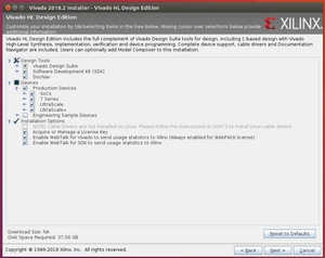 ZCU102 Development Using 2018 2 on a Linux VM Running on