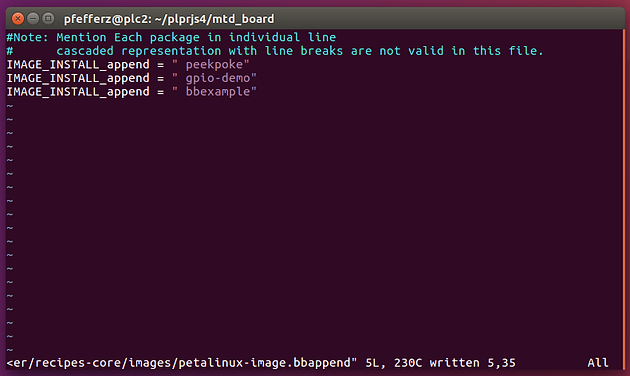 Add a Yocto Layer to a PetaLinux Project and Build a Recipe in the Lay