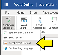 Disable Smart Quotes in Word Online