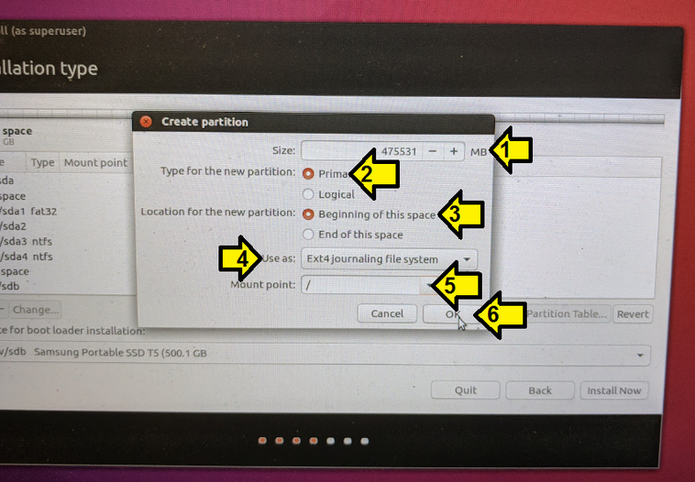 Install Ubuntu on an External Hard Drive