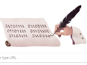 What does the Google Doodle say?