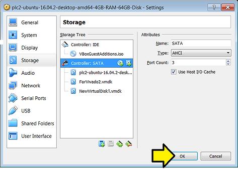 Add a disk to an Ubuntu VirtualBox VM