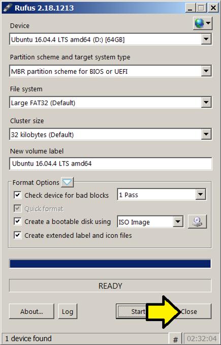 Install Ubuntu 16 04 on a USB Stick from Windows