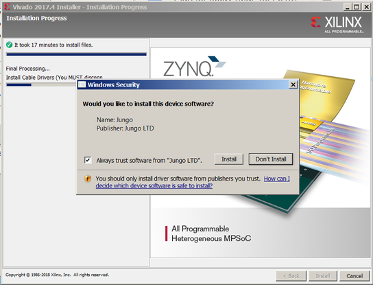 Download, Install and License Vivado 2017 4 on Windows 7