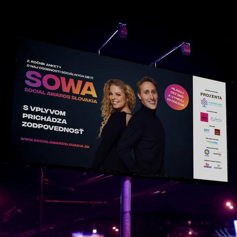 Billboard pre anketu Social Awards Slovakia