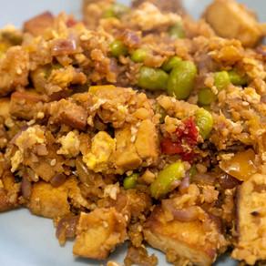 Pantry Inspiration: Cauliflower Rice with Tofu Stir Fry