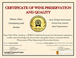 Signed Certificate of Preservation