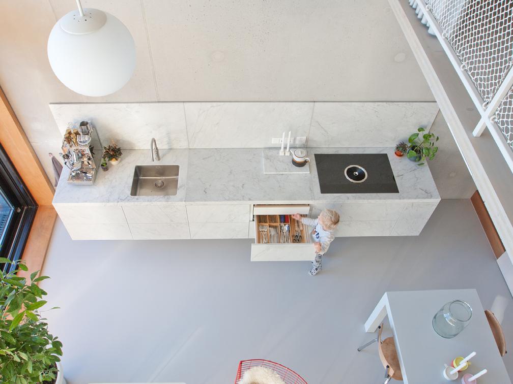 Marmeren keuken Loft Houthaven