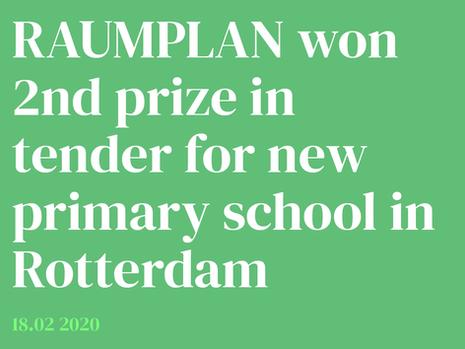 Raumplan won 2nd prize Fridjof Nansen School