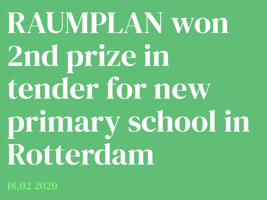 Raumplan won 2nd prize Fridjof Nansen School