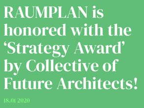 Raumplan receives its first Award!