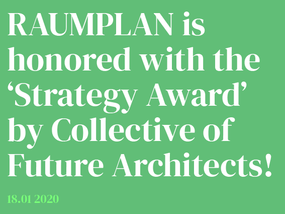 Raumplan receives it's first award!