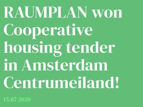 Raumplan wins 5.000 m2 housing tender in Amsterdam!